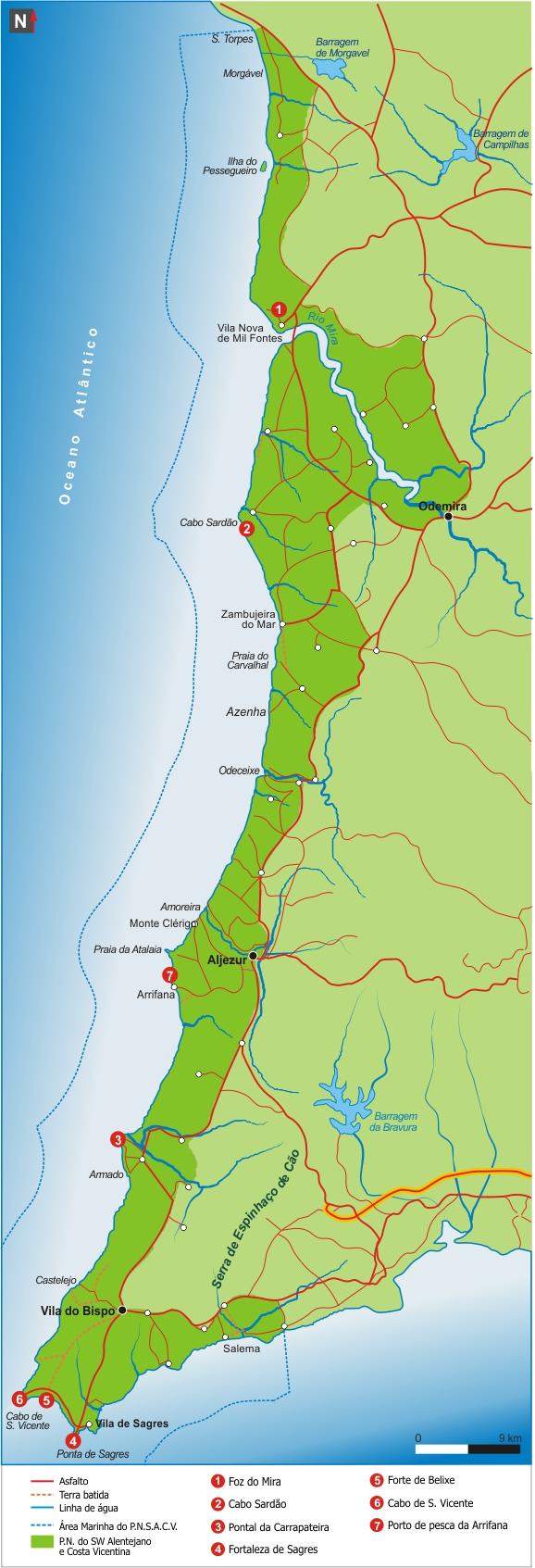 mapa-SW Alentejano