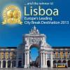 2013 winner for Europe's Leading City Break Destination as Lisbon, Portugal.