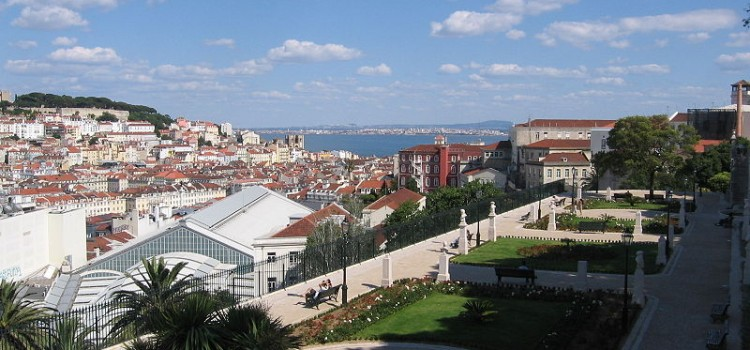 Miradouro e Jardim de São Pedro de Alcântara, Viewpoint