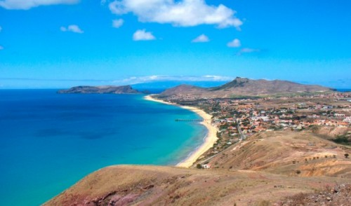 Porto Santo´s Island a beach in the Atlantic Ocean